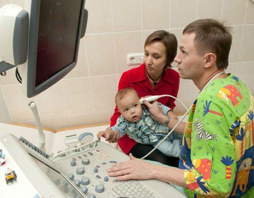 Процедура НСГ у ребенка