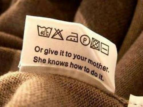 Бирка на одежде