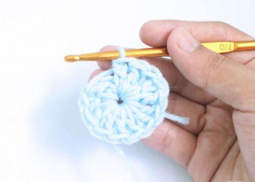 Провязывание столбиков в кольцо