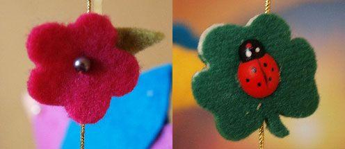 Цветы и листья из фетра
