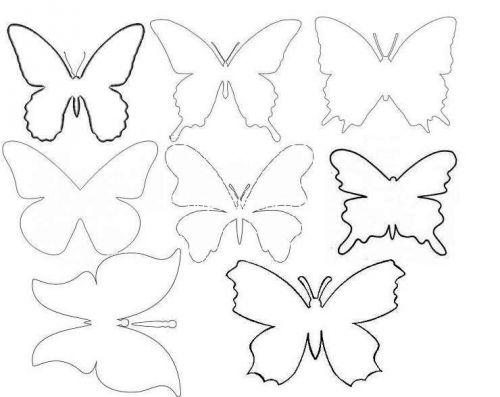 Шаблоны бабочек