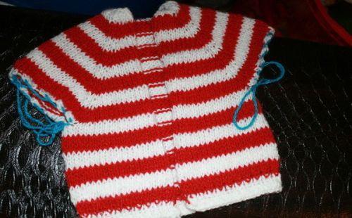Вязание кофты-реглан