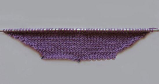 Вязание переда конверта