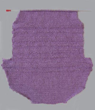 Вязание переда