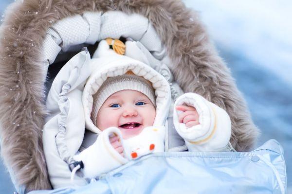 Младенец в зимней одежде