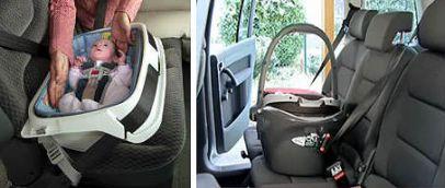 Фиксация люльки в автомобиле
