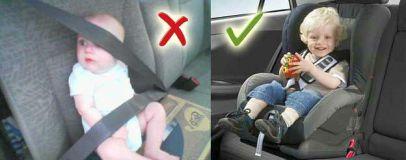 Правильная фиксация ребенка в автомобиле