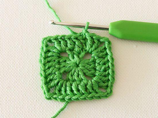 Вязание квадрата