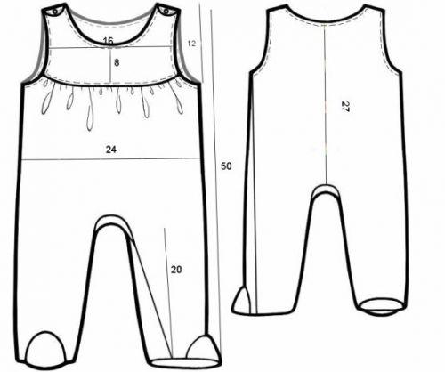 Схема вязания комбинезона