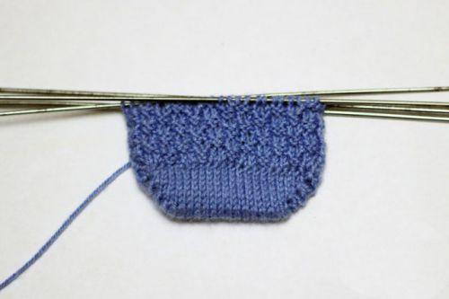 Основной узор вязания с лицевой сторны