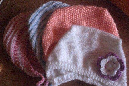 Чепчики для младенцев