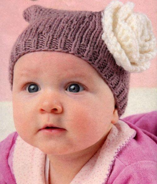 vjaz-shapochki-nov-9-500x586 Шапочка для новорожденного спицами, 25 моделей с описанием и видео уроками, Вязание для детей