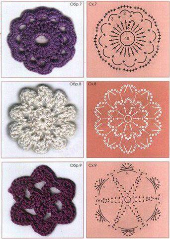 Схемы цветочков