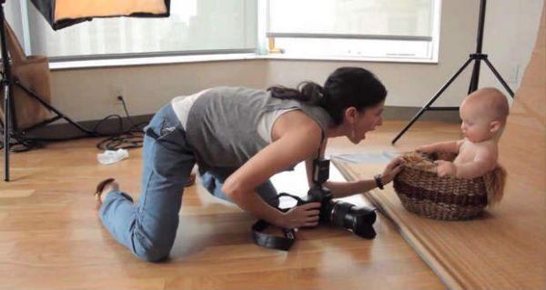 Фотографирование младенца