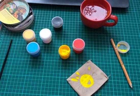 Краски для нанесения рисунка