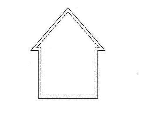 Выкройка бортиков-домиков