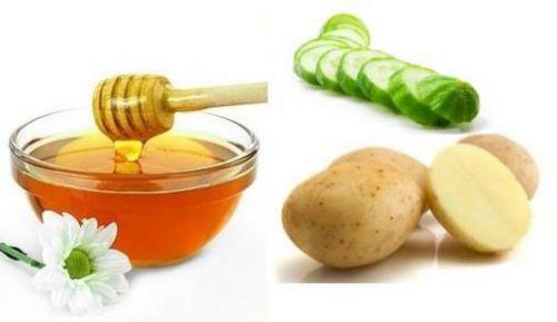 Мед, картофель,огурец