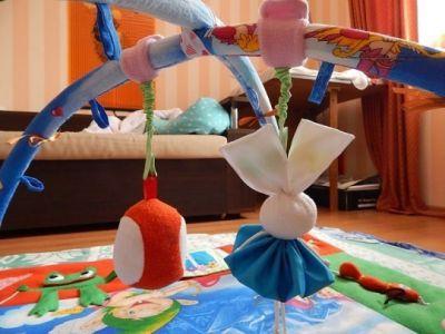 Крепление игрушек на липучках