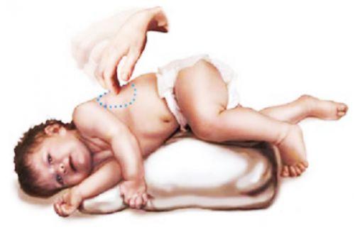 Положение ребенка во время массажа