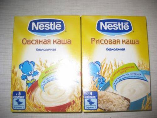 Измельченная рисовая каша для младенцев