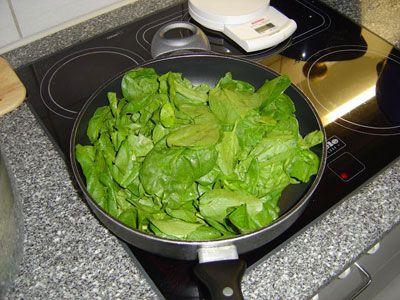 Приготовление шпината