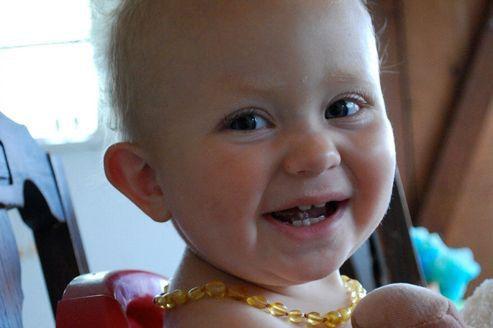 Детские янтарные бусы