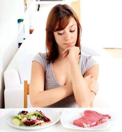 Выбор между свининой и овощами