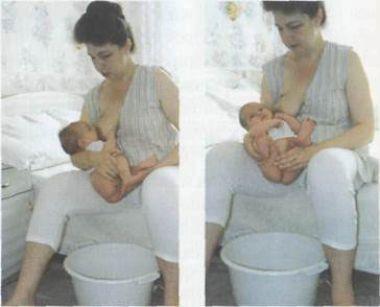 Высаживание ребенка во время кормления грудью