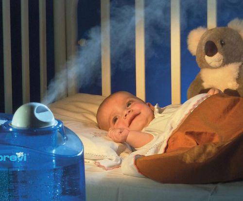 Увлажнитель воздуха в комнате младенца