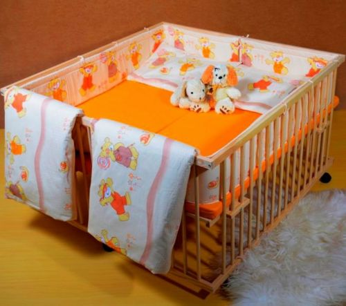 Стационарная кроватка для двойни