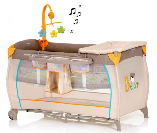 Кроватка-манеж из ткани