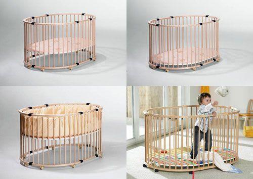 Овальный манеж-кроватка