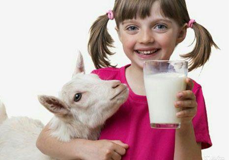 Девочка со стаканом козьего молока