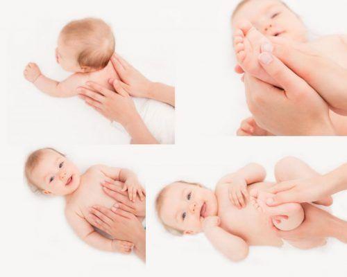 Массаж тела ребенка