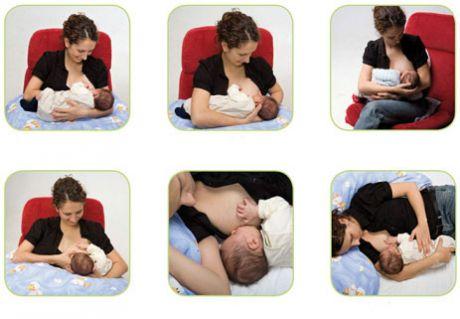 Позы при кормлении грудью