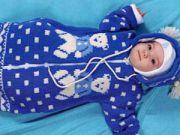 Конверт для новорожденного спицами