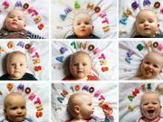 Младенец с разными выражениями лица