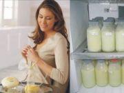 Замораживание грудного молока
