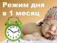 Режим дня для младенца