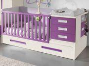 Кроватка для новорожденного с пеленальным столиком