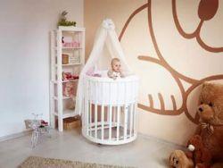 Круглая кроватка для младенца