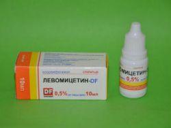Левомицитиновые капли для новорожденных в глаза