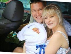Перевозка младенца в авто