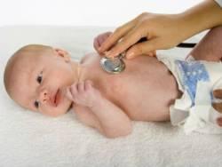 Аускультация легких у младенца