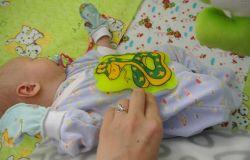 Солевая грелка для новорожденного